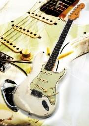 Vintage Art Guitar - Fender Stratocaster Olympic White (1964)