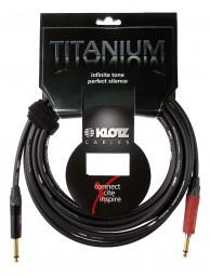 "Klotz Titanium Gitarrenkabel 3m ""Silent Plug"", Gerade - Gerade"