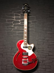 Cort Sunset I, Candy Apple Red, Bigsby, TV Jones Pickups
