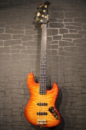 Sadowski NYC JJ4 Flamned Vintage Jazz Bass, Bag