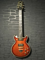 Ibanez AR620FM BSQ Bursted Smokey Quarz, Koffer