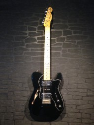 Fender Custom Shop Masterbuilt '72 Tele Thinline, Bj.14, relic, blk, w/c