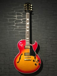 Gibson ES-137 Custom Cherry Sunburst, Bj. 02, ohc