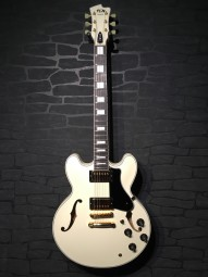 FGN Masterfield Custom Hollowbody, Antique White, Humbucker w/c