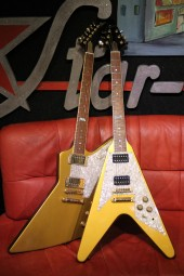 Gibson Flying V & Explorer (100th Anniversary Paar), Gold