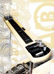 Vintage Art Guitar - Fender Deluxe 6 Table Steel Guitar