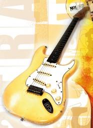 Vintage Art Guitar - Fender Stratocaster Olympic White