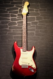 Fender Custom Shop `63 Strat, relic, candy apple red, ohc,