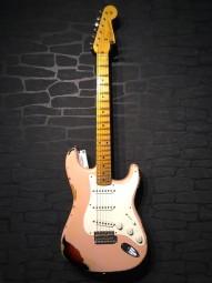 Fender Custom Shop 1958 Strat Heavy Relic, Shell Pink over sb, w/c