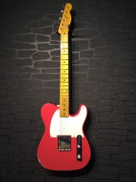 Fender Custom Shop 55 Esquire, Relic, LTD, Fiesta Red, w/c